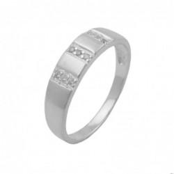 Ring, 9 kleine Zirkonia, 925