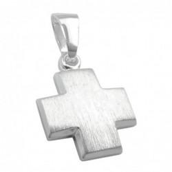 Anhänger, Kreuz, mattiert,...