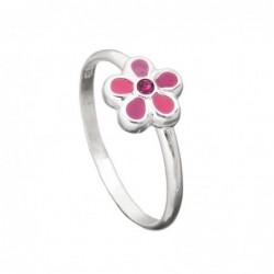 Kinderring, Blume pink,...