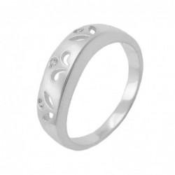 Ring, matt, mit 3x CZ, 925