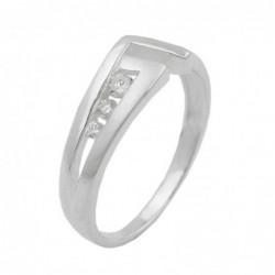 Ring, 7mm mit 3 Zirkonias,...