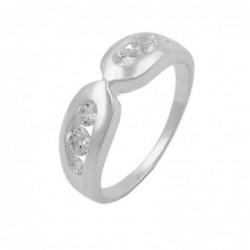 Ring, 6mm mit 6x Zirkonia,...