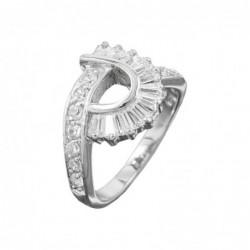 Ring, Zirkonias, rhodiniert...