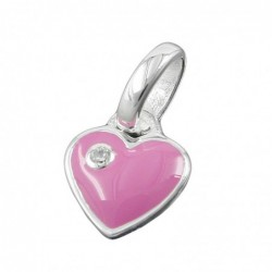 Anhänger 9mm Herz pink...