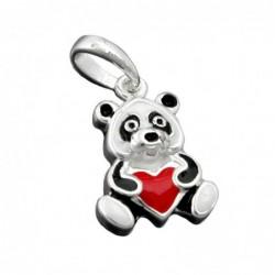 Anhänger 13x9mm Panda Bär...