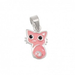 Anhänger 11x8mm Katze rosa...