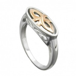 Ring, bicolor, rhodiniert,...