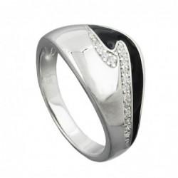Ring, schwarz mit...