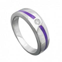 Ring, lila, mit Zirkonia,...