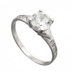Ring, Zirkonia 6mm, Silber 925
