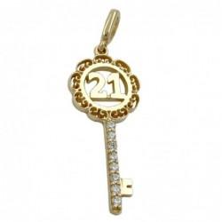 Anhänger 23x10mm Schlüssel...