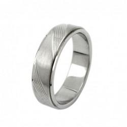 Ring, Edelstahl, Streifen...