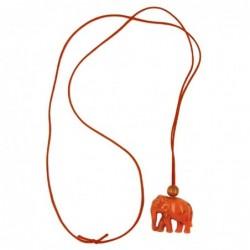 Kette, Elefant, orange-marmor
