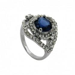 Ring, blauer Glasstein,...