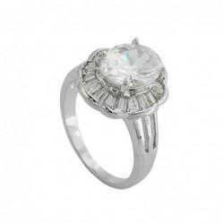 Ring, Blume mit weißen...