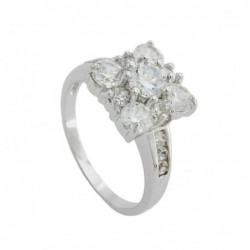 Ring, Viereck mit weißen...