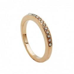 Ring, schmal, vergoldet
