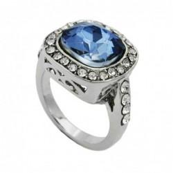 Ring, Glasstein blau,...