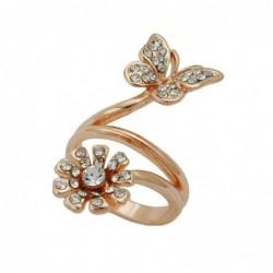 Ring, Schmetterling, vergoldet