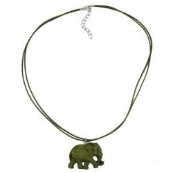 Kette, Elefant, olivton-matt