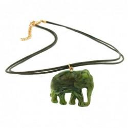 Kette, Elefant oliv-marmoriert