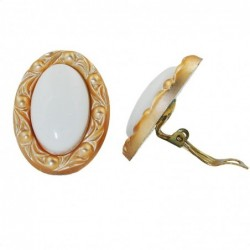 Clip Ohrring 30x21mm oval...