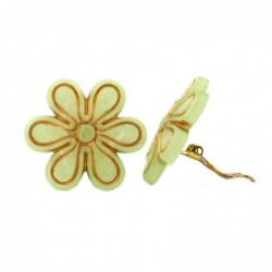 Clip Ohrring 30mm Blüte...