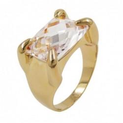 Ring, gold-plattiert, Zirkonia