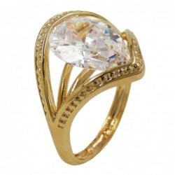 Ring, 18mm gold-plattiert...