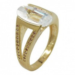 Ring, 14mm gold-plattiert...