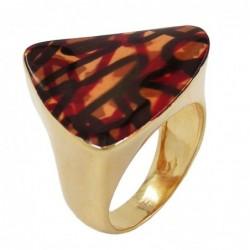 Ring, farbig, gold-plattiert
